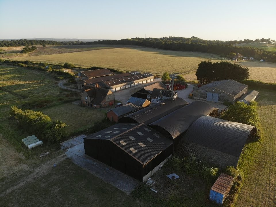 Farmhouse and barns